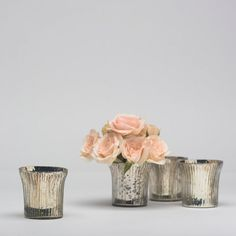 Mercury Glass Votive- can use for candles or flowers