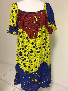Colorful Ankara Shift Dress for our Plus Size Ladies. Can be worn to any occasio. at Diyanu Colorful Ankara Shift Dress for our Plus Size Ladies. Can be worn to any occasio. at Diyanu Source by ac South African Fashion, African Wear Dresses, Latest African Fashion Dresses, African Attire, Simple Dresses, Pretty Dresses, Casual Dresses, Ankara Dress Designs, Short Long Dresses