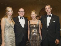 MyRoyals:  Rose Ball 2015, Sporting Monte-Carlo, Monaco, March 28, 2015-Beatrice Borromeo, Prince Albert, Beatrice's mother Countess Donna Paola Marzotto Borromeo, and Pierre Casiraghi; it's been rumored that Pierre and Beatrice will marry in 2015.