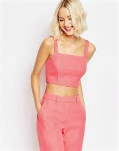 ASOS Square Neck Pink Bralet | Pretty Little Liars