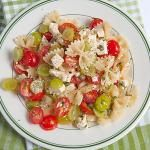 Bow Tie Pasta Salad with Tomatoes and Grapes