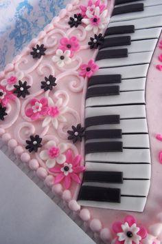 Pink & Piano Cake