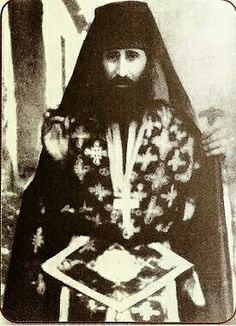 """Saint George (Karslidis) of Drama. He died on4 November 1959. The last words which passed his lips were:""""Open to me the gate of loving-kindness, blessed Mother of God""""."""
