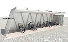 Bicycle parking Warsaw Metro