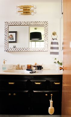 My Master Bathroom | A six week makeover for under $500 | #OneRoomChallenge #Copycatchic