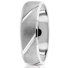 Jewelry Point - Domed Brushed Wedding Ring 950 Platinum Etched Men's Band…