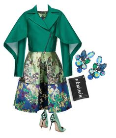"""""""'Feminine'"""" by clothes-wise ❤ liked on Polyvore featuring Erdem, Susan Caplan Vintage, Sophia Webster, Antonio Berardi, Clare V., drama, polyvorecommunity, partystyle and ClothesWise"""