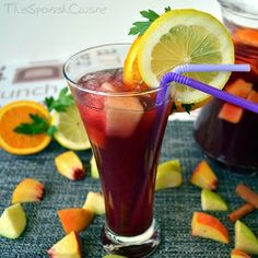 The authentic Sangria recipe from Spain, a refreshing drink with red wine and fresh fruits. The ideal cocktail for parties! - Spanish food and cuisine