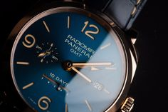 http://www.hautetime.com/blue-dials-inspired-by-the-sea-from-officine-panerai/79890/ Officine Panerai brings us four new limited edition timepieces with sun-brushed blue dials inspired by the