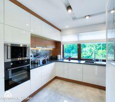 Modern kitchen by auraprojekt modern Kitchen Interior, Kitchen Decor, Laundry Room Design, Modern Kitchen Design, Home Projects, Home Kitchens, Furniture Design, Kitchen Cabinets, House Design