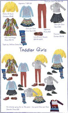 Children's Fashion Stylist: 10 Piece Winter Wardrobe for Toddler Girls -- this is too cute!