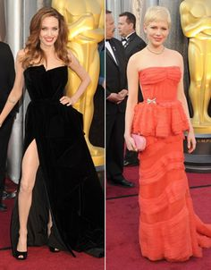 Angelina Jolie and Michelle WIlliams.