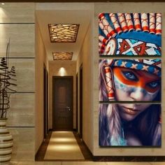 Native American Art 3 Piece Canvas Wall Decor No. BD-N3000    **WORLDWIDE SHIPPING AVAILABLE**    Item Type: Painting     Style: Portrait     Material: Canvas     Subject: Person     Type: Canvas Printing     Shape: Square     Frame: With Frame or No Fame    Frame Sizes: 35m x 50cm, 40cm x 60cm,  50cm x 70cm | Shop this product here: http://spreesy.com/belladonnahomedecor/101 | Shop all of our products at http://spreesy.com/belladonnahomedecor    | Pinterest selling powered by Spreesy.com