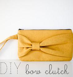 DIY: Bow clutch sewing tutorial.
