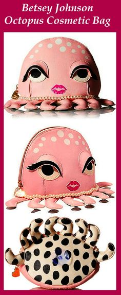 Lovely Betsey Johnson Cosmetic Bag –Octopus Cosmetic Bag From the Kitch Collection!!!!