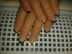 Naturel acryl met nagellak overlay