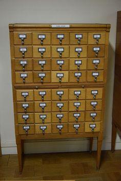 autres mobiliers intérieur - meuble à tiroirs à fiches # 1 / 2 - daf45 | webencheres.com