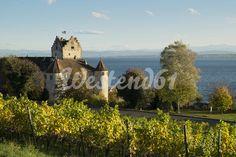 Germany, Baden-Wuerttemberg, Lake Constance district, View of Meersburg Castle