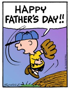 Charlie Brown's father was mentioned often in the 50 years of the Peanuts strip. His dad was a barber (just like Charles Schulz's) and Chuck admired his father and his profession. Fathers Day Quotes, Fathers Day Crafts, Happy Fathers Day, Snoopy Quotes, Snoopy Love, Favorite Cartoon Character, Charlie Brown And Snoopy, Holiday Wishes, Holiday Cards