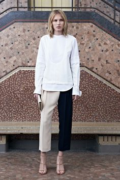 Two tone trousers at Chloé Resort 2014