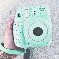 tumblr instax camera teal