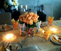 Easy and inexpensive way to decorate your festive Easter table