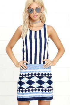 2017 Sexy Round Collar Sleeveless Stripe Dress