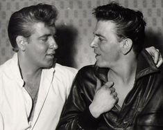 Eddie Cochran (Summertime Blues) & Gene Vincent (Be Bop a Lula) ....late 50s rock idols