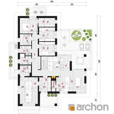 finished project House in widliczkach ground floor plan Ground Floor Plan, House Plans, New Homes, Floor Plans, Flooring, How To Plan, Holiday, Ideas, Haus