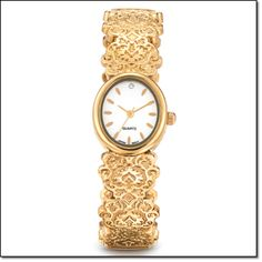 Avon Campaign 7 '16 www.youravon.com/hslocomb Engraved Lace Cuff Watch   Ornate and fancy all over! This watch takes you to any event, anytime! Goldtone. One size fits most.    Brochure:  intro special $24.99 Will be $34.99  #Avon #Jewelry #Watch #CuffWatch