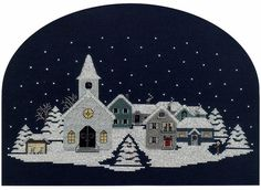 Christmas Village Counted Cross Stitch pattern