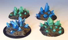 James Wappel Miniature Painting: A Little Crystal display. Warhammer 40k, Warhammer Terrain, Warhammer Fantasy, Warhammer Tabletop, Warhammer Paint, Dnd Mini, Miniature Bases, Hirst Arts, Wargaming Terrain
