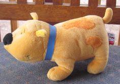 "8"" 2001 SCHOLASTIC Clifford Sidekicks Plush TBONE T-Bone Yellow PUPPY Dog 28 #SCHOLASTIC"