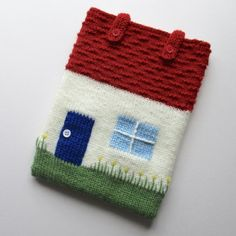 Cottage Tablet Cosy knitting project by Amanda Berry | LoveKnitting