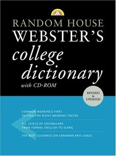 Random House Webster's College Dictionary with CD-ROM (Random House Webster's College Dictionary (W/CD)) by Random House.