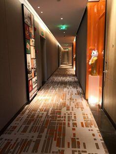 hotel corridor (Canopy by Hilton Chengdu City Centre) -- 2019 - Hotel Hallway, Hotel Corridor, Theme Hotel, Public Hotel, Corridor Design, Hotel Room Design, Hallway Designs, Hotel Interiors, Chengdu