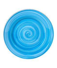 Take a look at this Aqua Brush Stroke 7.5'' Salad Plate - Set of Four by Home Essentials and Beyond on #zulily today! $12 !!
