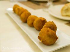 Croquetas de cocido del Restaurante La Rayua. http://www.espaciomadrid.es/?p=26331