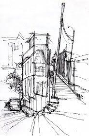 una esquina hecha casa     esquema de habitar. Las casas que son enredaderas.       corte esquema del espacio angosto       Esa tarde que...