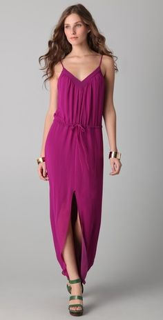 for a possible wedding in puerto rico?  Rory Beca  Keith V Neck Slit Gown