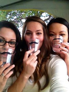 Not crazy about mustaches, but these are cute cups that people can have fun with.