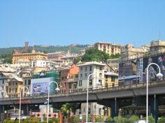 Skyline in Genoa Italy