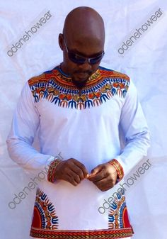 African Clothing / Odeneho Wear Men's Polished Cotton With Dashiki Design by Odenehowear on Etsy https://www.etsy.com/listing/252508480/african-clothing-odeneho-wear-mens