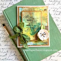 Handmade card by Autumn Clark using the New Mercies stamp set from Verve. #vervestamps