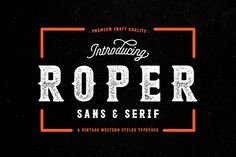 Roper Font Family - 70% OFF by AndrewFootit on @creativemarket