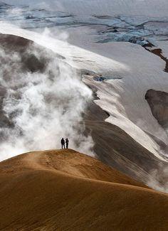 hiking at #Kerlingarfjoll Area, Hveradalir Thermal Field, Iceland