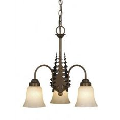 Vaxcel Lighting Yosemite 3 Light Chandelier with Frosted Glass Shades - Chandelier Pendant Lights, Pendant Light Fixtures, Chandeliers, Ceiling Fixtures, Ceiling Fan, Ceiling Lights, Fan Light Kits, Rustic Lamps, Pipe Lamp
