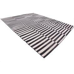 Mercury Row Braxton Black/White Area Rug