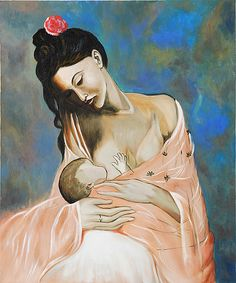 Maternity, Pablo Picasso – This stunning oil painting, originally created in 1905, depicts the intimate bond of mother and child.
