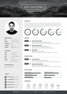 mono resume template by wwwikonome 3 page templates 90 icons